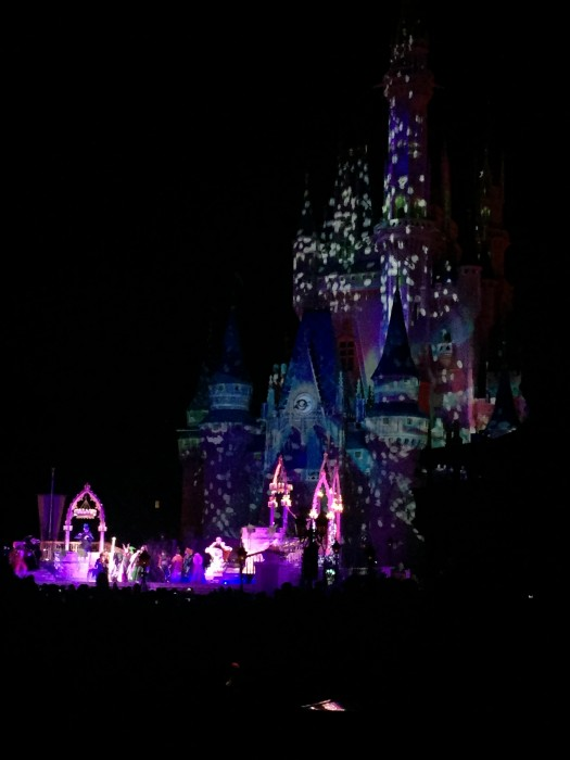 Seeing shows at the castle may mean holding your child for a distant view of characters they may not recognize anyhow.
