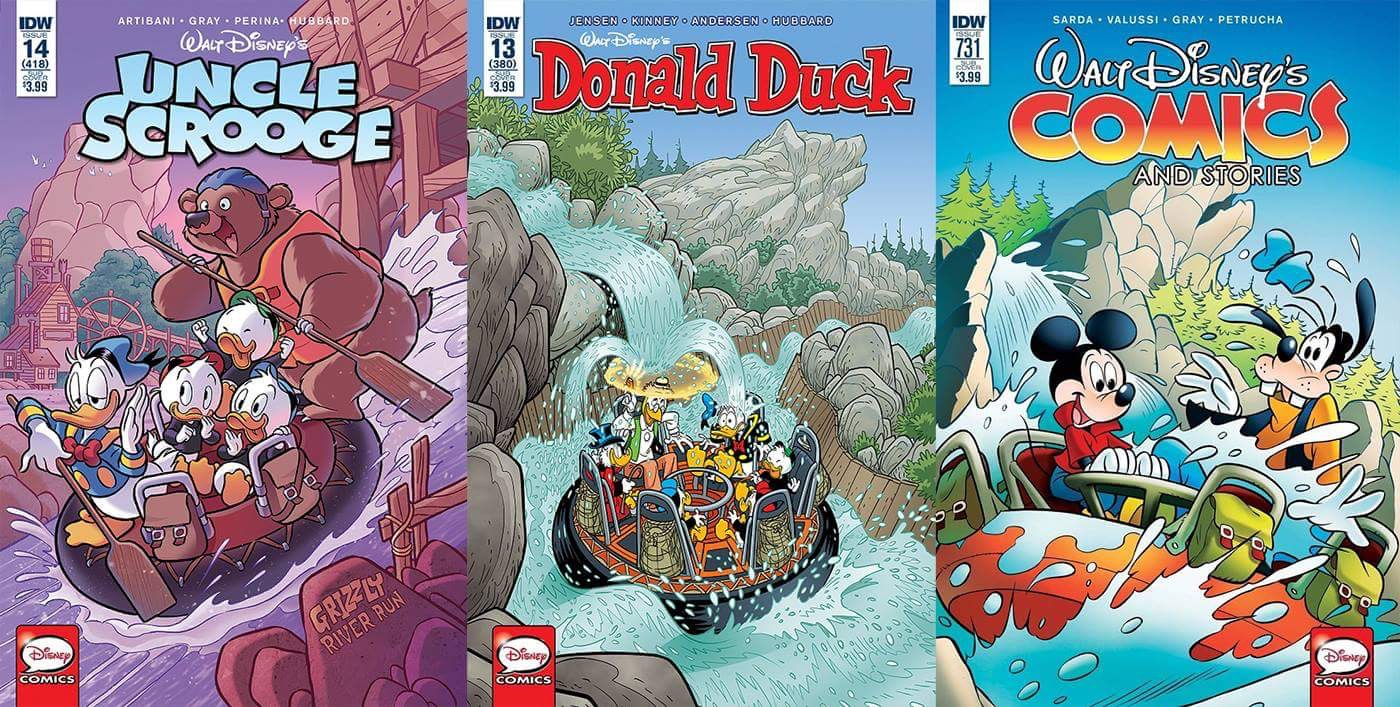 the saturday six looks at more theme park related comic books