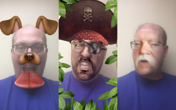 Me as a dog, me as a pirate, and me as Wilford Brimley.