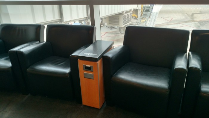 Some Southwest gates provide comfortable seating with built in electrical outlets