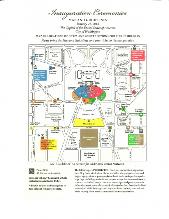 Map of 2013 Inauguration
