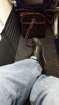 If a tray table isn't important to you, this exit row seat provides ample legroom
