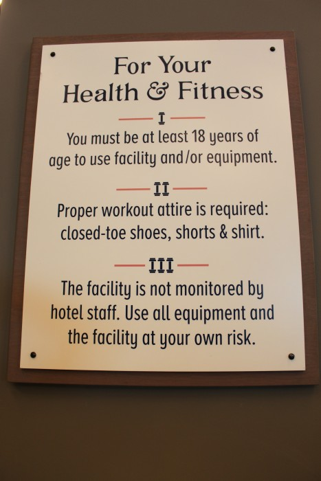 Fitness Center Rules