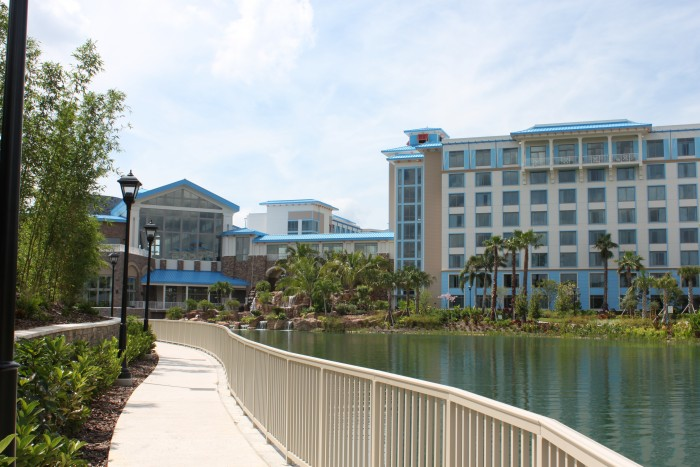 Walkway to the resort from the parks