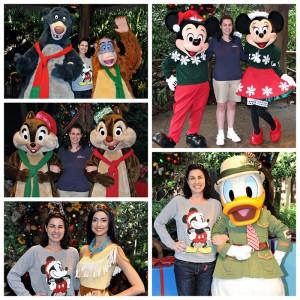 Mickey, Minnie, Donald, Chip & Dale, Baloo & King Louie, and Pocahontas Holiday Outfits at Animal Kingdom