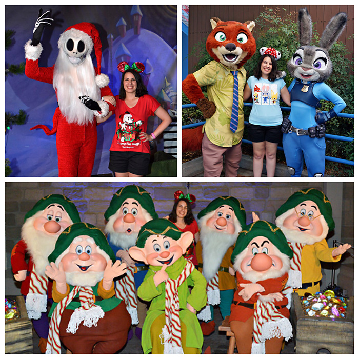 jack skellington nick judy seven dwarfs at mickeys very merry christmas party
