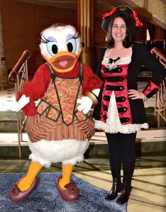 Disney Cruise Line - Daisy Duck on Pirates Night