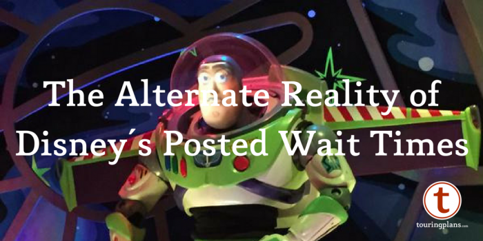 The alternate reality of Disney's posted wait times