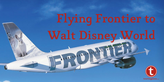 Flying Frontier to Walt Disney World