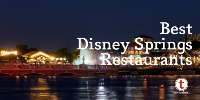 Best table service restaurants at Disney Springs