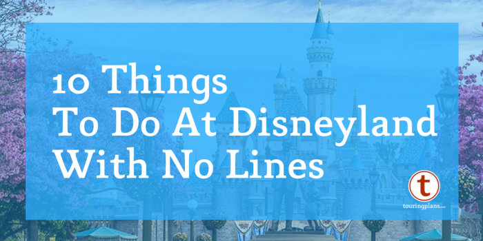 10 Things to do at Disneyland with no lines