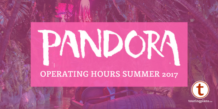 Pandora World of Avatar operating hours at Disney's Animal Kingdom