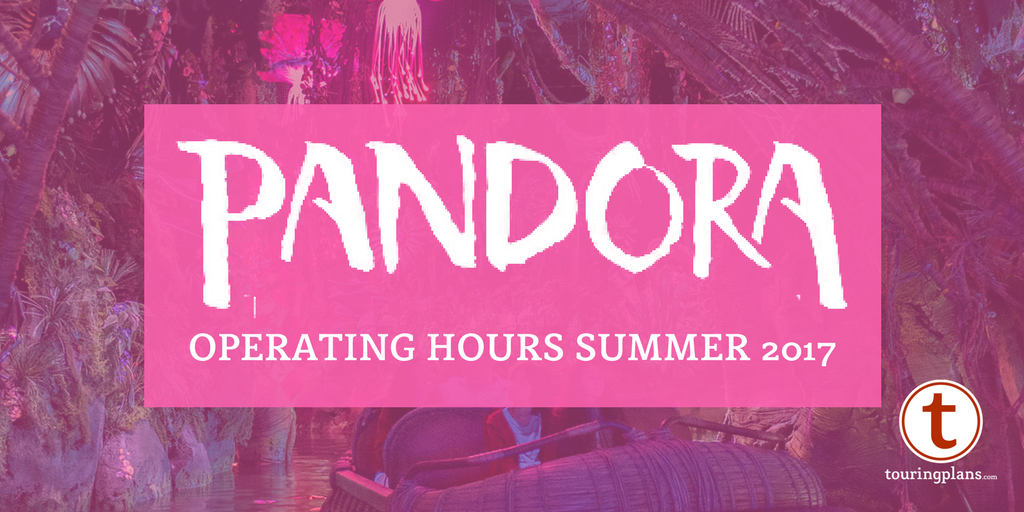 Pandora World of Avatar operating hours at Disney's Animal Kingdom