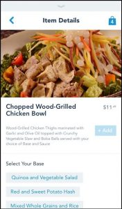 Customizing each dish is as easy as selecting an option from each category