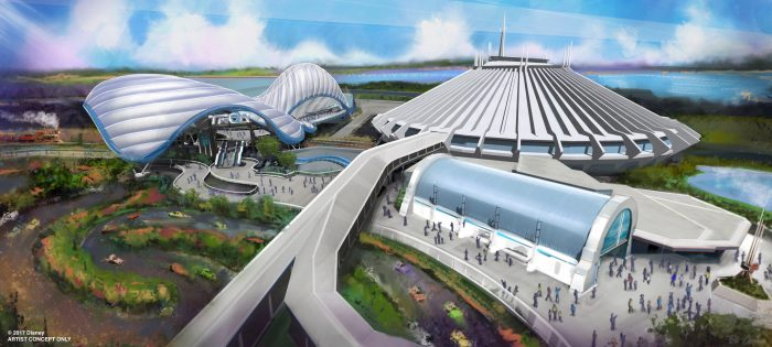 TRON Inspired Coaster Magic Kingdom