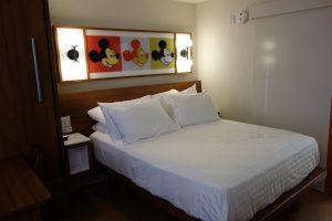 A room at Disney's Pop Century Resort.