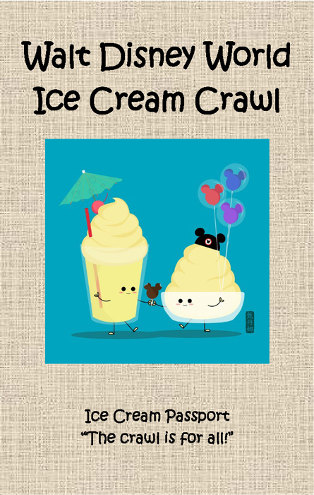 ice cream crawl passport cover