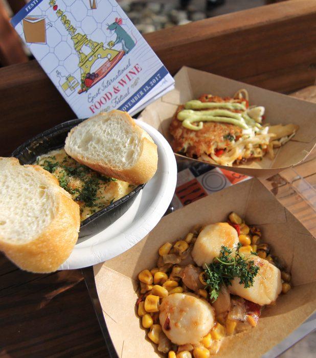 Coastal Eats' Lump Crab Cake, Seared Scallops, and Baked Shrimp Scampi