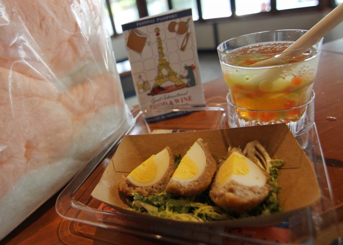 Epcot Legacy Showplace's Scotch Egg, L'Orange Cotton Candy, and Bright Horizons