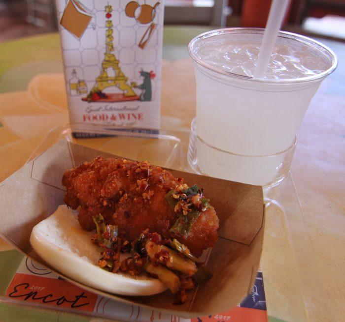 China's Spicy Chicken Bao Bun and BaiJoe Punch