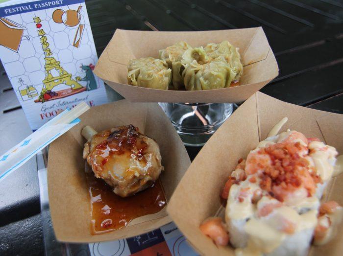 Japan's Wasabi Shumai Steamed Pork Dumplings, Salmon BLT Roll, and Teriyaki Ginger Pork
