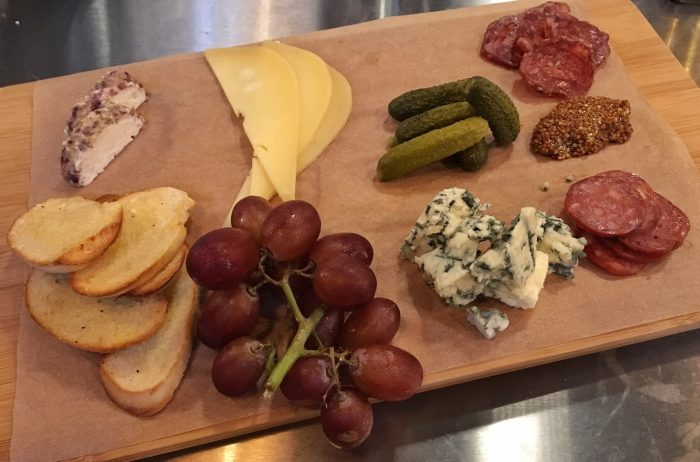 California Cheese and charcuterie plate