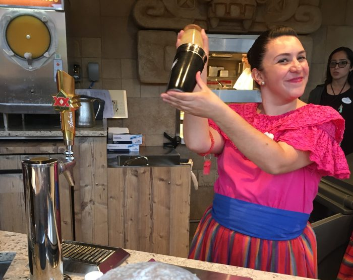 Cheery Cast Members make signature margaritas to order