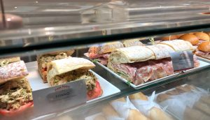 A few of the sandwich selections at Pizza Ponte