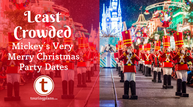 finding the least crowded mickeys very merry christmas party in 2018 - Mickeys Christmas Party Tickets